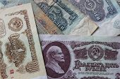 Background Of The Soviet Roubles