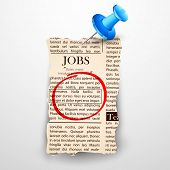 illustration of job classified in newspaper