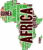 Africa wordcloud