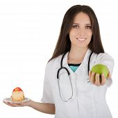 Nutritionist Comparing Diets
