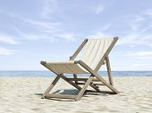 Chaise longue on beach