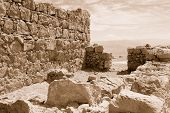 picture of masada  - Shattered fragment of ancient ruins - JPG