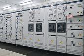picture of substation  - Electrical energy distribution substation in a plant - JPG