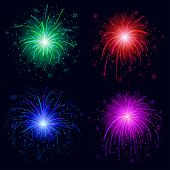 Fireworks, set of four