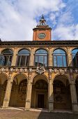 Old library building, city of Bologna, Italy