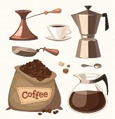 Isolated coffee objects Vector image