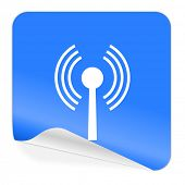 wifi blue sticker icon