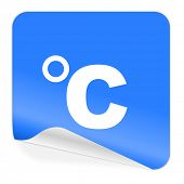 celsius blue sticker icon