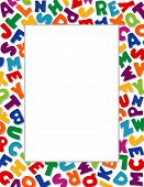 Alphabet Frame, White Background: