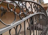 image of wrought iron  - detail of a fence made of wrought iron - JPG