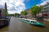 pic of houseboats  - AMSTERDAM   - JPG