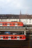 Trains on station