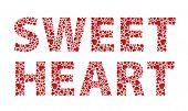 picture of sweethearts  - Sweetheart red love hearts text - JPG