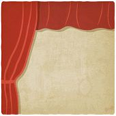 red curtain old background