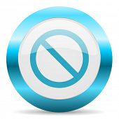 access denied blue glossy icon