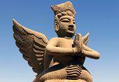 Clay Statue Of Mythological Flying Celestial, Ningxia, China