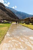 Peru, Ollantaytambo-inca Ruins Of Sacred Valley In Andes Mountains,south America. It Was Royal Estat