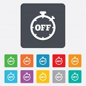 Timer off sign icon. Stopwatch symbol.
