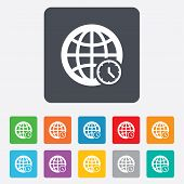 picture of universal sign  - World time sign icon - JPG