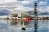 Barcelona, Spain - May 2: Port Vell On May 2, 2014 In Barcelona. Port Vell And World Tade Center - O