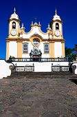 Matriz de Santo Antonio church church of the typical village of tiradentes in minas gerais state in