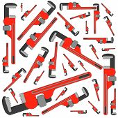 foto of pipefitter  - pipe wrench pattern - JPG