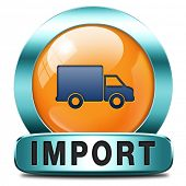 import icon international and worldwide or global trade on world economy market. importation and exp
