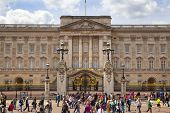 LONDON, UK - MAY 14, 2014  Buckingham Palace the official residence of Queen Elizabeth II and one of