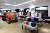 image of boutique  - luxury and fashionable brand new interior of cloth store - JPG