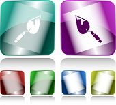 Trowel. Internet buttons. Vector illustration.