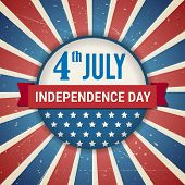 Vector Independence 4Th Of July American Day Poster