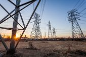 stock photo of utility pole  - Electric tower - JPG