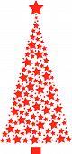 Stars forming a Christmas tree