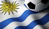Uruguayan flag, football