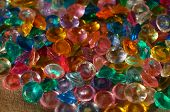 Colored Crystal Rhinestones As Background