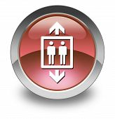 picture of elevator icon  - Icon Button Pictogram Image Illustration with Elevator symbol - JPG