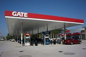 JACKSONVILLE, FL - MAY 22, 2014: A Gate Petroleum gas station in Jacksonville. Gate Petroleum is hea