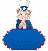 Sign with Uncle Sam pointing. Perfect for a USA or Fourth of July.