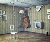 an urgent need to make repairs interior. 3d concept