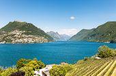 beautiful landscape lake and mountains