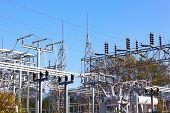 Power substation in autumn.