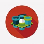 Takeaway Coffee Flat Icon With Long Shadow,eps10