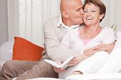Mature Couple Loving Each Other At Home