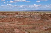 Beautiful colorful rock formations of the Painted Desert