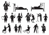 stock photo of matron  - Vector icons for the healthcare and medical industry - JPG