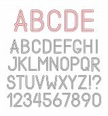 Vector Airy Alphabet Letters, Numbers And Punctuation Marks