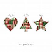 stock photo of christmas bells  - three hangtags  - JPG