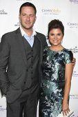 LOS ANGELES - NOV 4:  Brady Smith, Tiffani Thiessen at the Hallmark Channel's