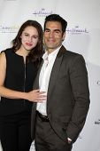 LOS ANGELES - NOV 4:  Kaitlin Riley, Jordi Vilasuso at the Hallmark Channel's