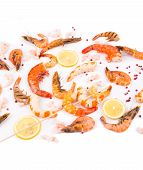 Composition of cooked shrimps.